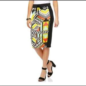 Bongo Vintage Retro Style Pencil Skirt